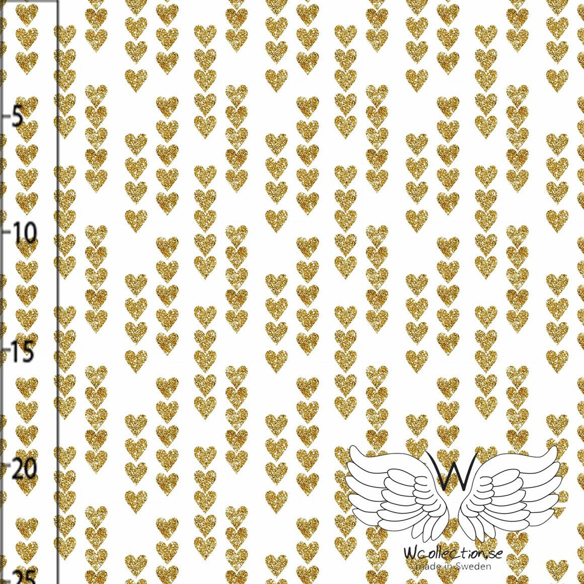 Gold Glittery Hearts by Wcollection