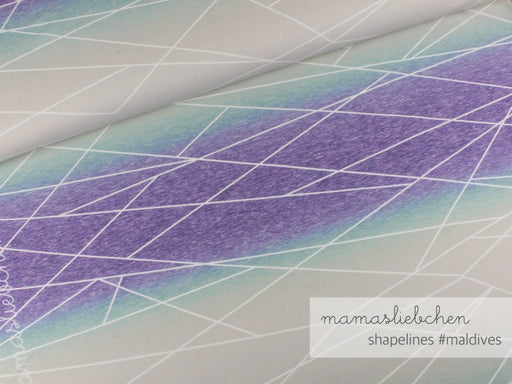 Gradient Shapelines Jersey, Maldives by mamasliebchen