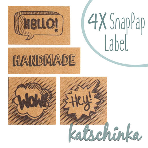 Comic/Handmade SnapPap Labels