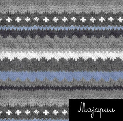 Handmade Sweater Organic Stretch French Terry, Blue-Gray by Majapuu