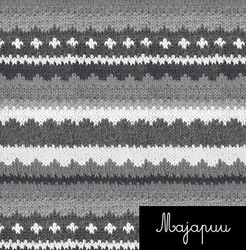 Handmade Sweater Organic Stretch French Terry, White-Gray by Majapuu