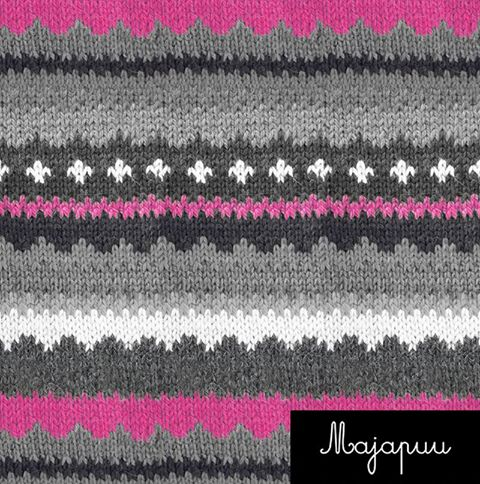 Handmade Sweater Jersey, Pink-Gray by Majapuu