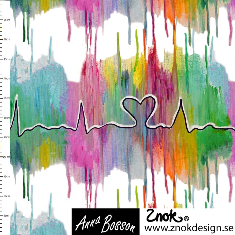 Heartbeat Organic Jersey by Znok Design