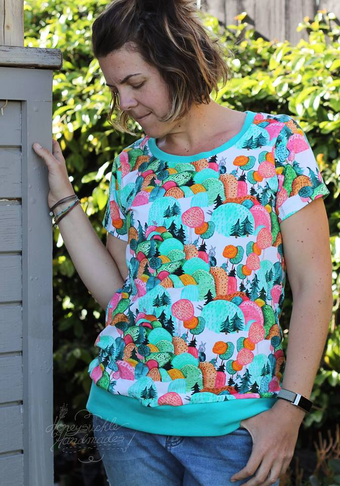 Over the Hills Organic Jersey by Jumping June Textiles