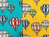 Hot Air Balloons Jersey, Yellow by Majapuu