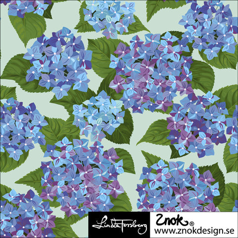 Hydrangea Jersey Blue, by Znok Design