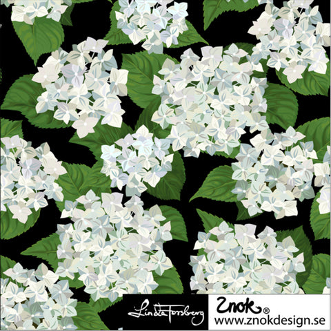 Hydrangea Jersey White, by Znok Design