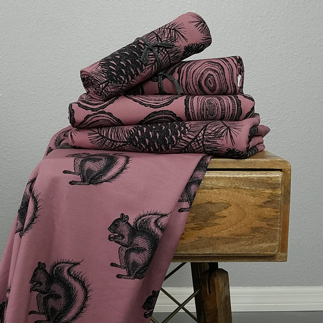 Rounds Organic Stretch Sweat, Dusty Rose by Jumping June Textiles