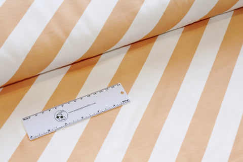 Nappinja Wide Diagonal Stripes Jersey, Peach and White