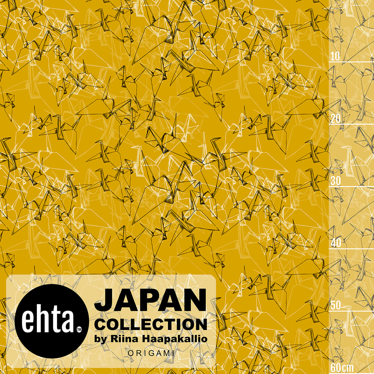 Origami Organic Jersey, Mustard by Ehta