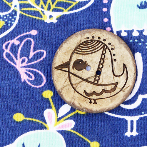 Bird Coconut Button