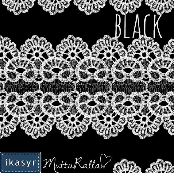 Lace Organic Jersey, Black by ikasyr