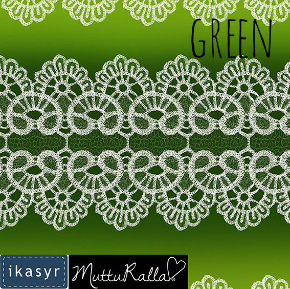 Lace Organic Jersey, Green by ikasyr