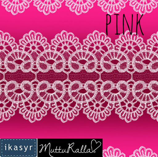 Lace Organic Jersey, Pink by ikasyr