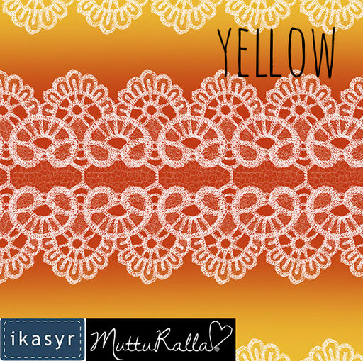 Lace Organic Jersey, Yellow by ikasyr