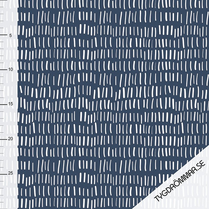 Lines Organic Stretch French Terry, Dark Blue