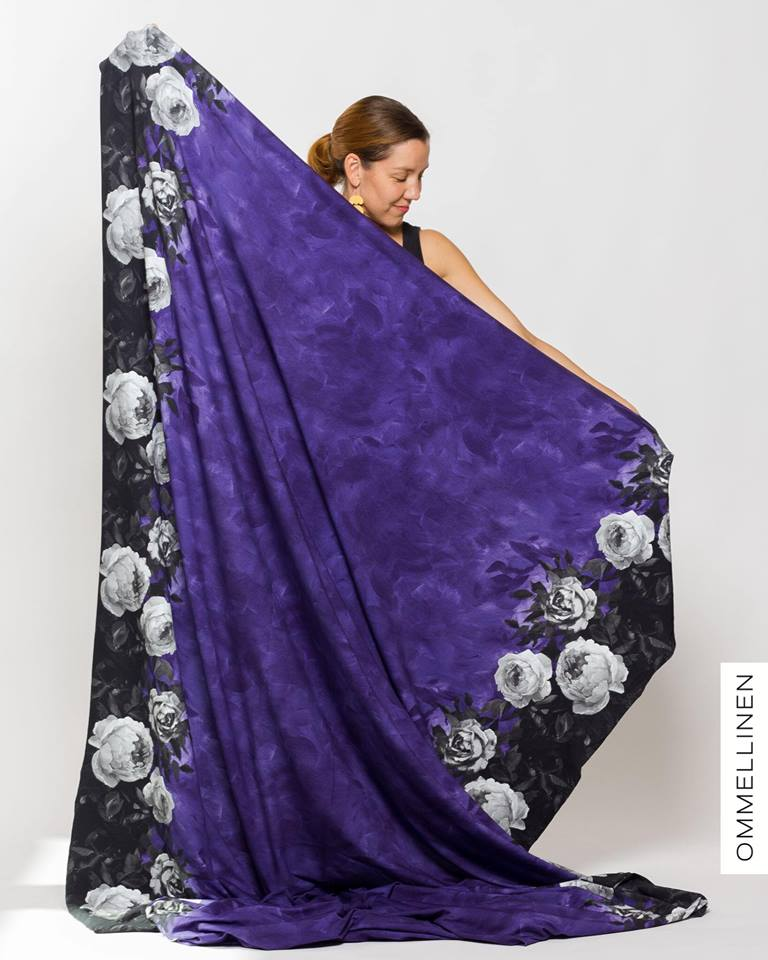 Lumous Mini Stretch French Terry, Violet-Gray by Ommellinen
