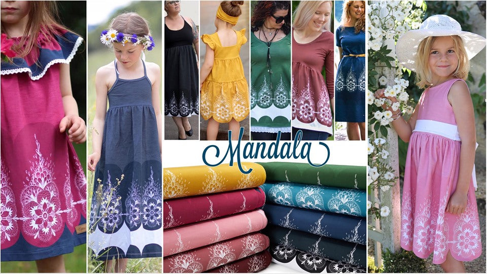 Mandala Jersey Rapport, Old Rose by Mamasliebchen