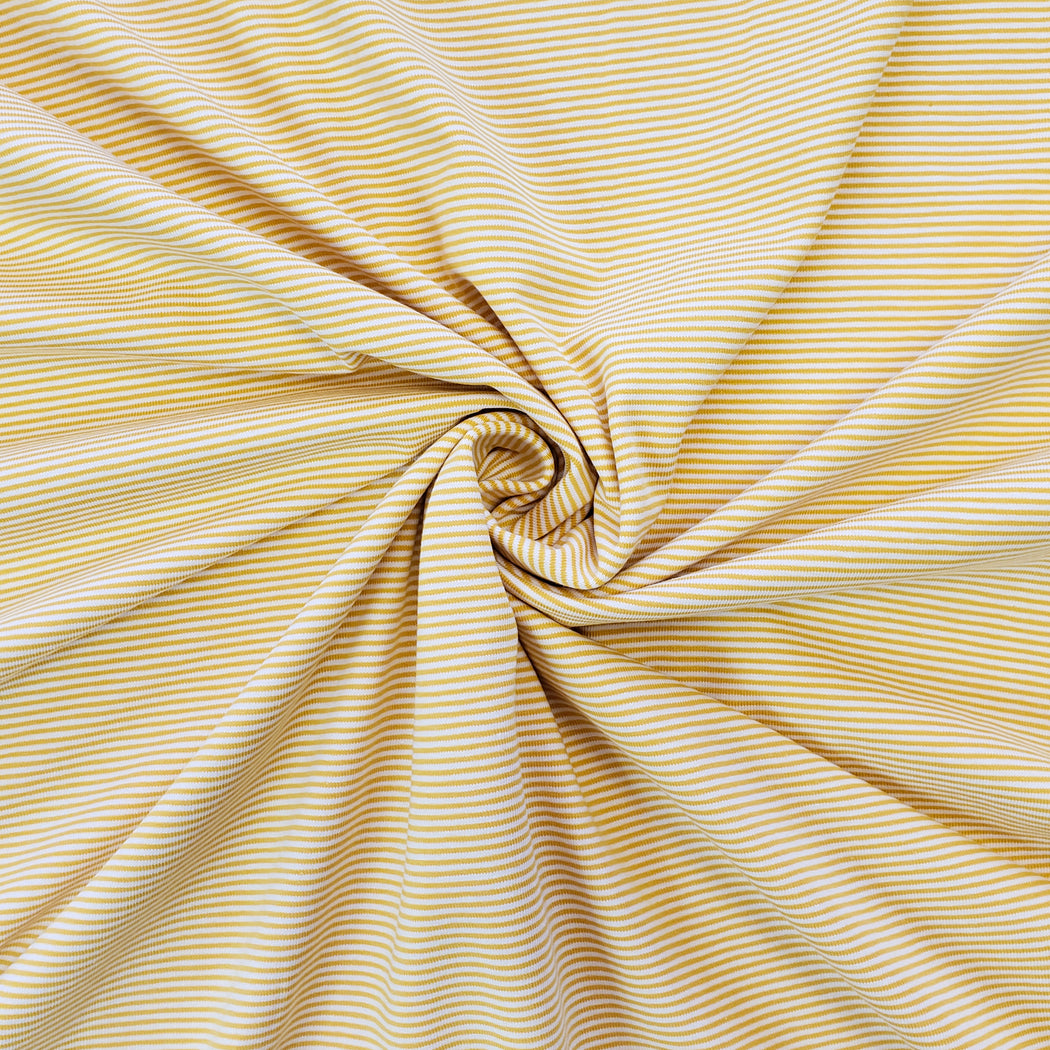 1.2 mm Micro Stripes Jersey, Yellow & White