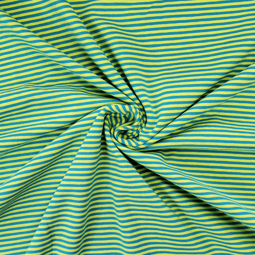 2.6 mm Mini Stripes Jersey, Lime & Turquoise