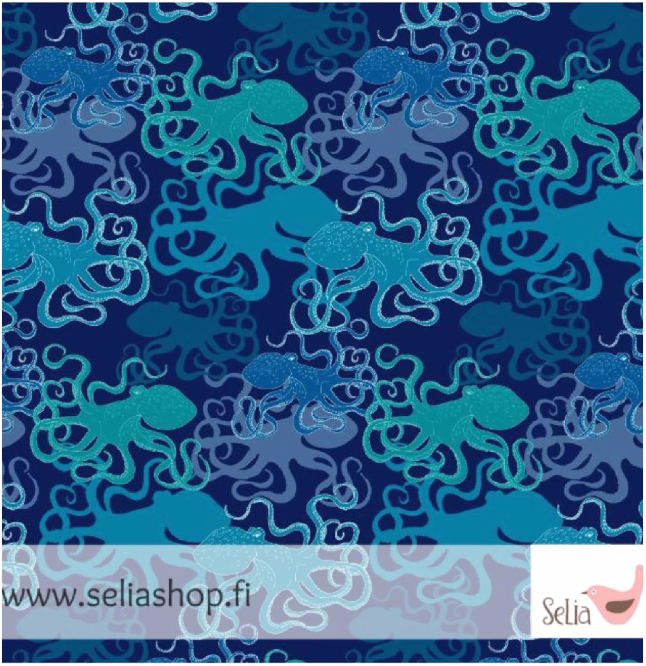 Octopus Jersey, Dark Blue by Selia