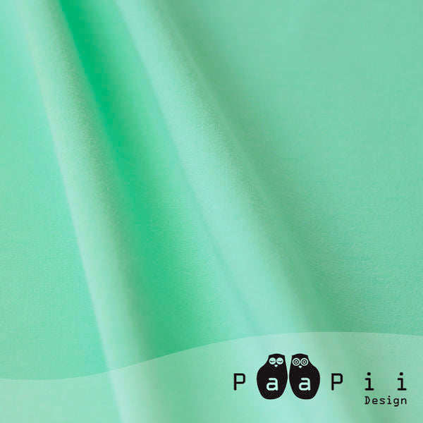 Organic Jersey Solid, Mint by Paapii Design