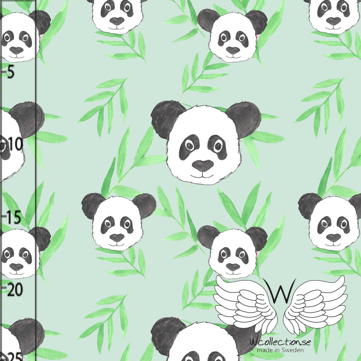 Panda Organic Jersey, Green by Wcollection