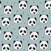 Peculiar Panda Organic Stretch French Terry, Sterling Blue by Bloome Copenhagen