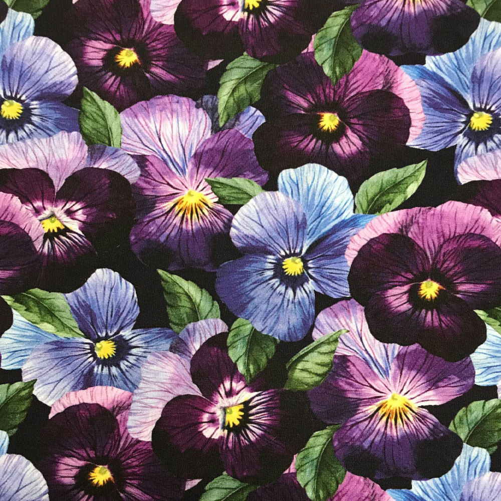 Pansy Organic Jersey, Purple-Black by Ernst Textil