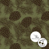 Pinecones Organic Stretch Sweat, Moss Green by Jumping June Textiles