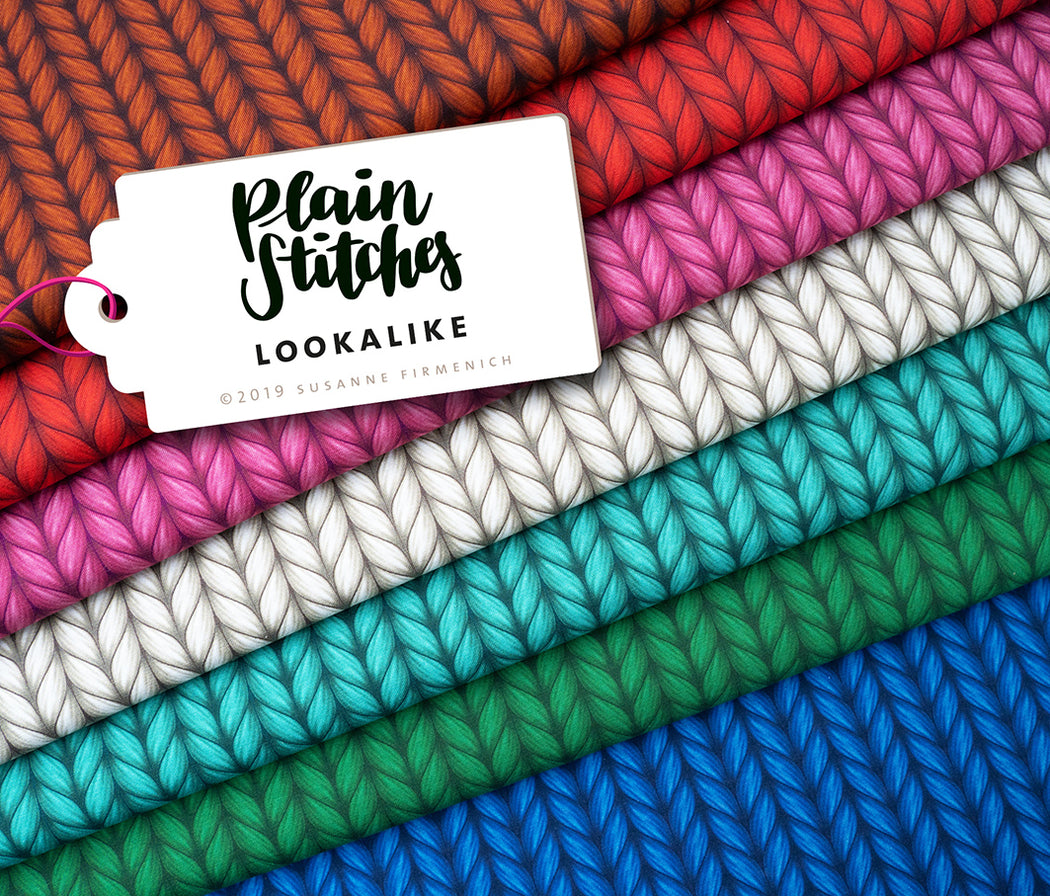 Plain Stitches Lookalike Organic Jersey, Col 1 Chestnut