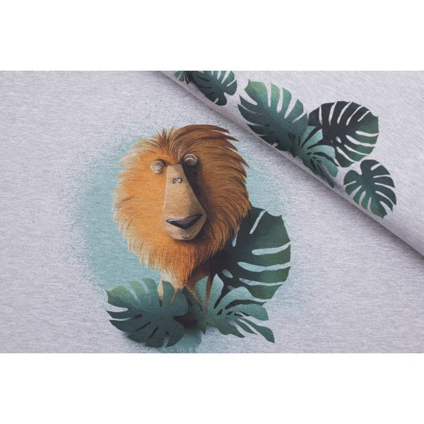 Poldi the Lion Stretch French Terry RAPPORT, Melange Gray