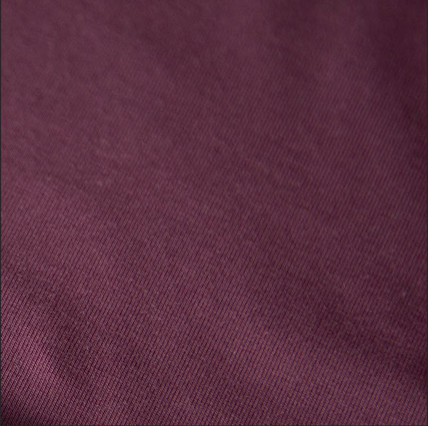 Organic Stretch French Terry, Plum by Mereen-Kapynen