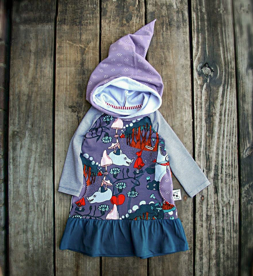 Red Riding Hood Organic Jersey by Jumping June Textiles