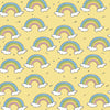 Rainy Rainbow Organic Jersey, Yellow by Bloome Copenhagen