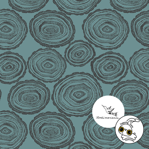 Rounds Organic Stretch French Terry, Cameo Blue
