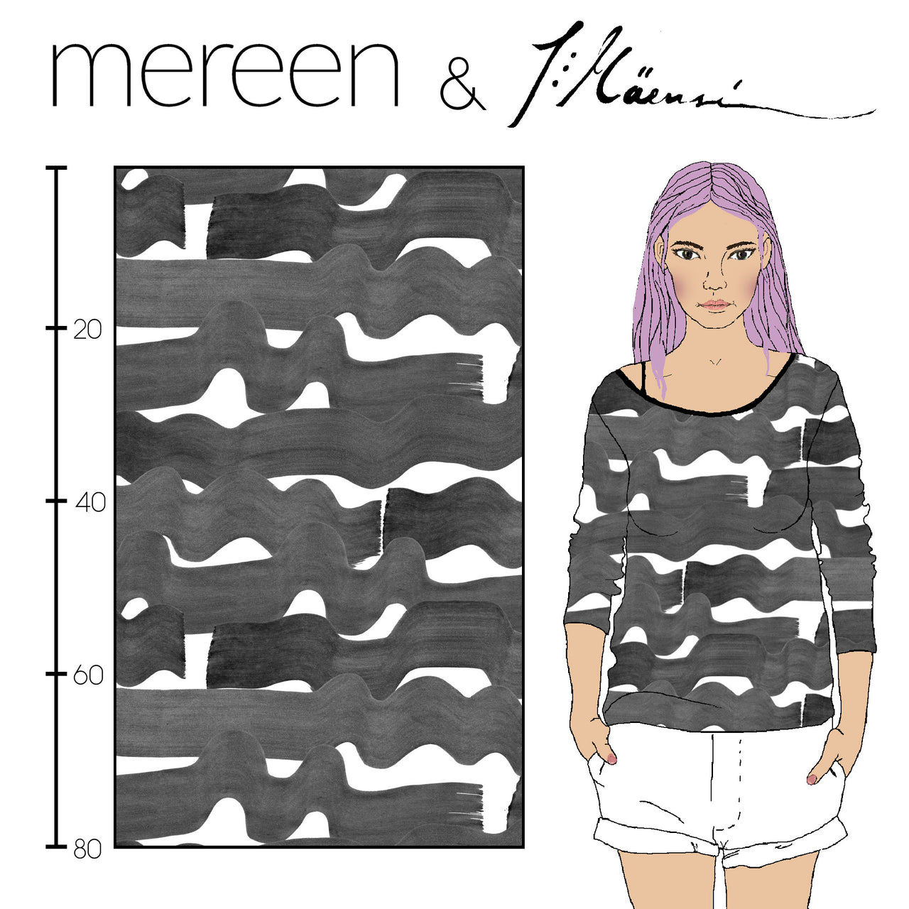 Sea Organic Stretch French Terry, Gray by Kapynen