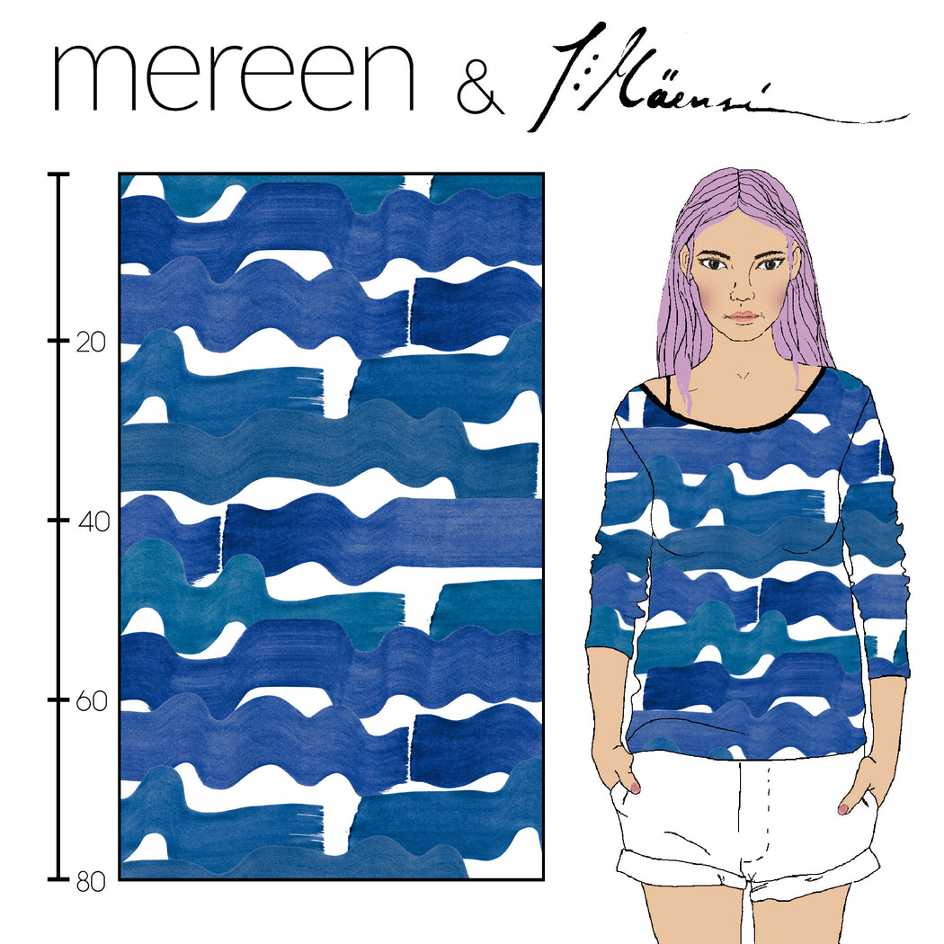 Sea Organic Jersey, Blue by Kapynen-Mereen