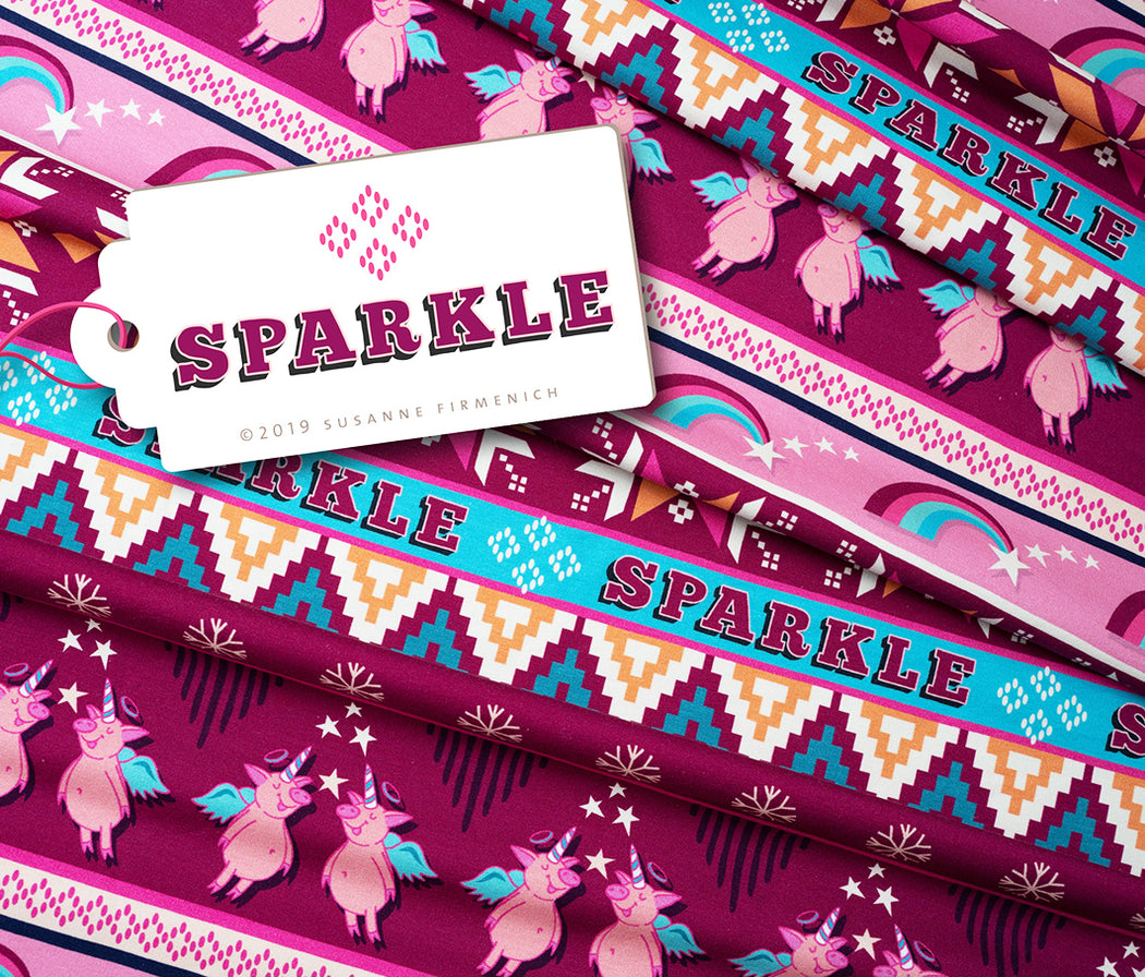 Sparkle Organic Stretch French Terry
