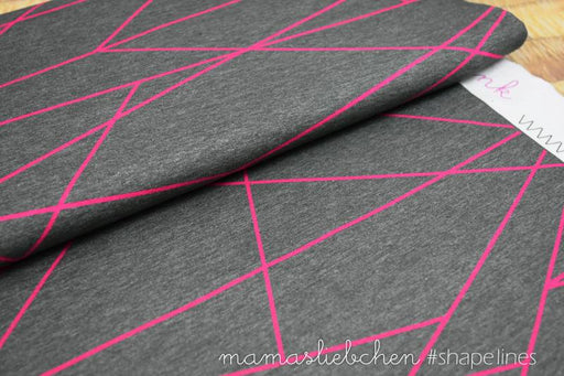 Shapelines Jersey, Charcoal & Pink by mamasliebchen