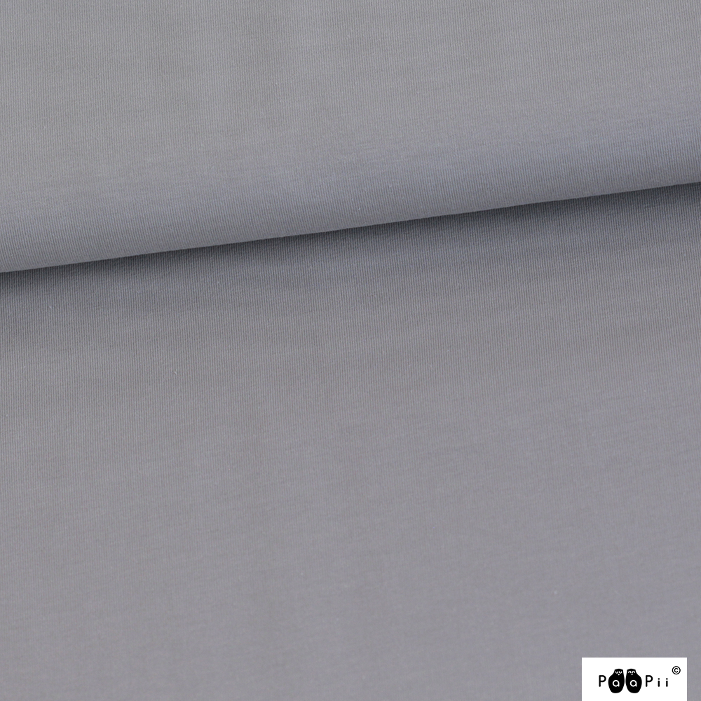 Organic Stretch French Terry Solid Grey