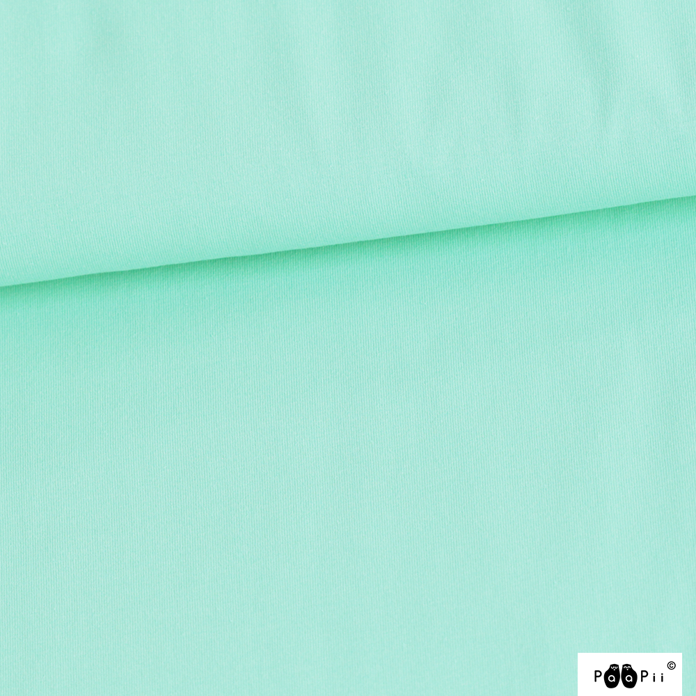 Organic Stretch French Terry Solid Mint