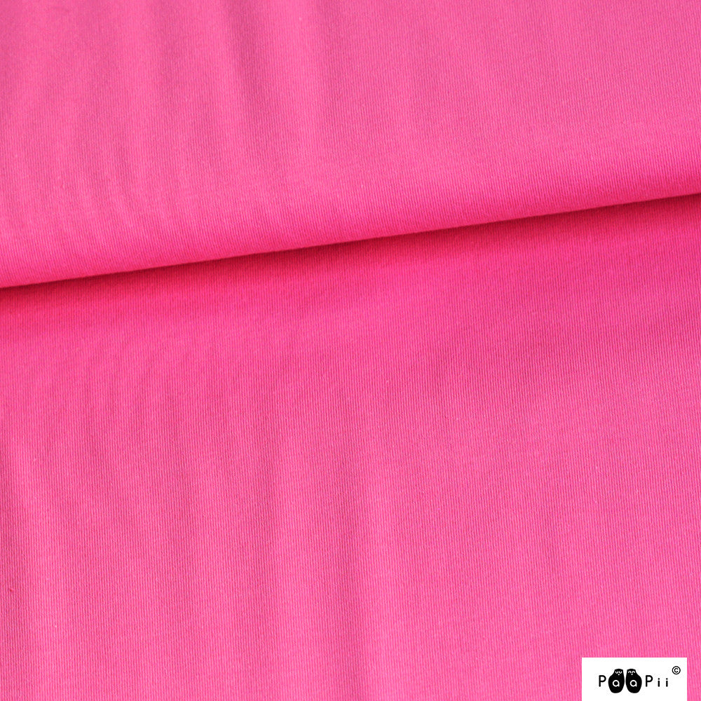 Organic Stretch French Terry Solid Pink