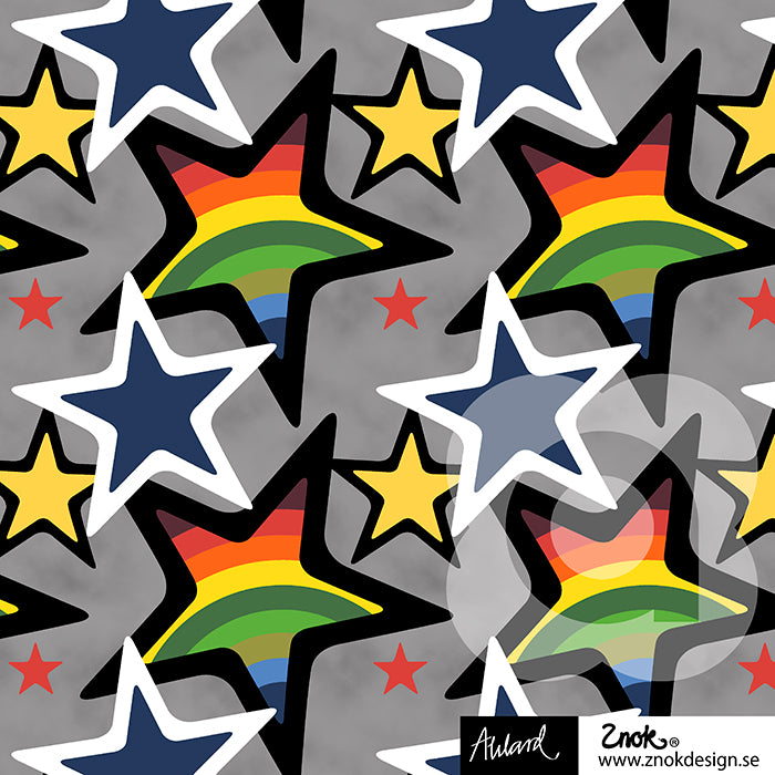 Stars Jersey, Rainbow by Znok Design