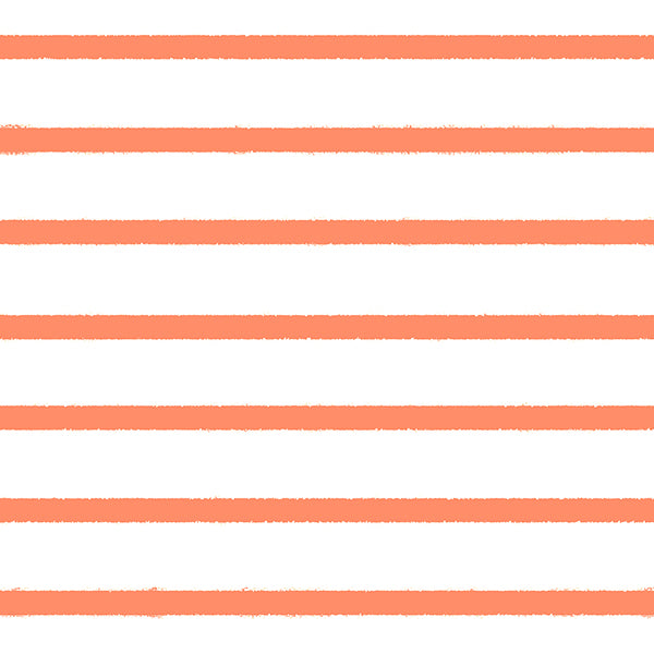 Stripes Organic Jersey, Coral by Bloome Copenhagen