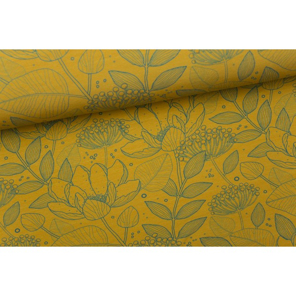 Tender Garden Stretch French Terry, Ochre