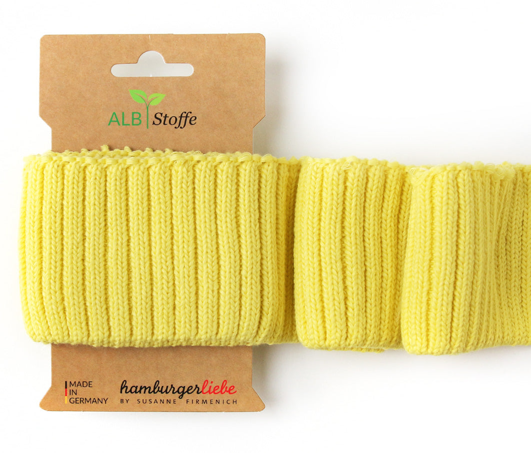 Cuff Me Cozy, Col. A77 Yellow, by Hamburger Liebe-Albstoffe