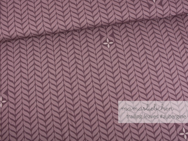 Trailing Leaves Jersey, Aubergine by mamasliebchen ***Slight Seconds***
