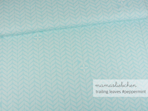 Trailing Leaves Jersey, Peppermint by mamasliebchen