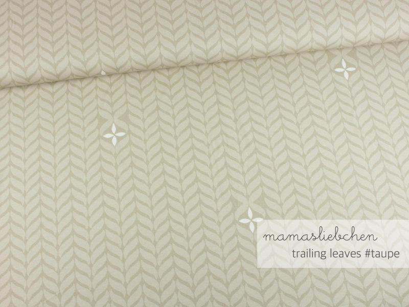 Trailing Leaves Jersey, Taupe by mamasliebchen